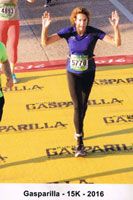 Lynn Gray in the 2016 Gasparilla 15K