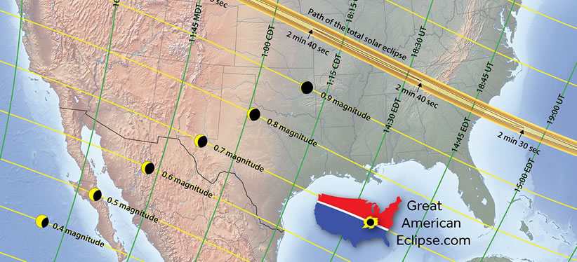 Great American Eclipse Map