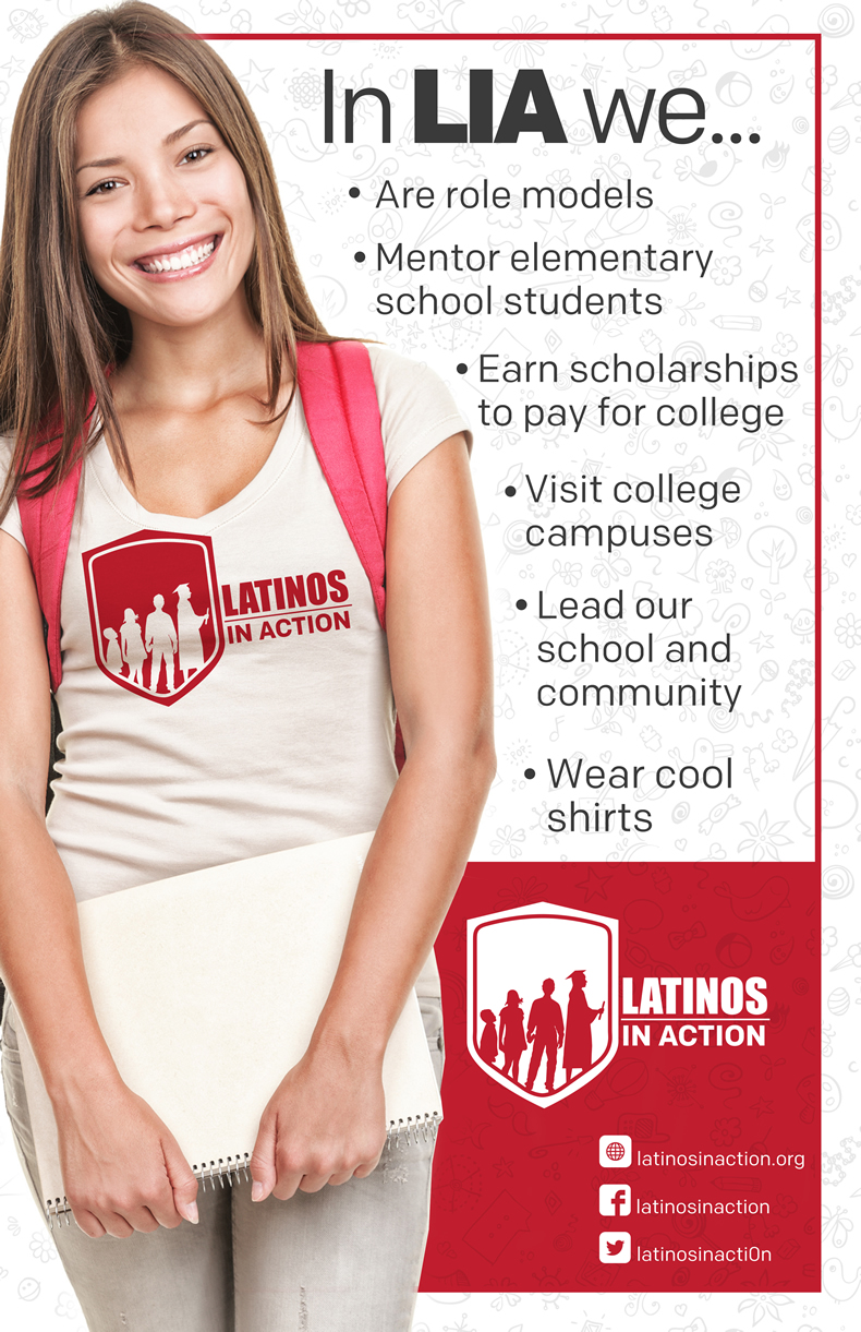 In LIA we...Are role models; mentor elementary school students; earn scholarships to pay for college; visit college campuses; lead our school and community; wear cool shirts